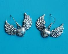 Flying heart earrings Heart Earrings, Valentines Day, Brooch, Romantic, Jewelry, Valentine's Day Diy, Jewlery, Romantic Things, Bijoux