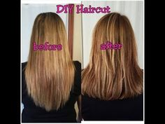 Easy How to: Cut Your Own Hair in Layers - YouTube