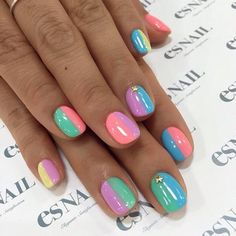 #nail#nails#nailart#naildesign#esnail#gelnail#nailgram#nailsalon#esnails#notd#ネイルサロン#ネイル#エスネイル#ジェルネイル#네일#美甲@esnail_la#summernails#simplenails#blockingnail#studs#studnails#colorful#neoncolor#neon