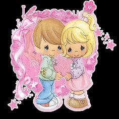 Precious Moments Glitter Graphics | Glitter Text » Love » I Love You~Precious Moments
