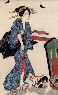 Keisai Eisen - beautiful women
