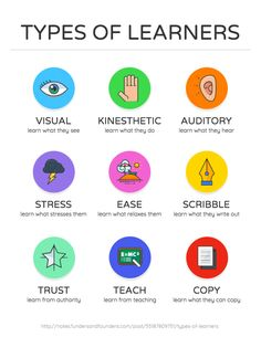 Types of Learners Infographic -- Education Infographic Templates -- Educational Infographics & Templates Education English, Elementary Education, English Class, Learn English, Toefl Test, Types Of Learners, E Mc2, Visual Aids, Education Quotes For Teachers