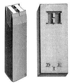Punch and matrix, Gutenburgs printing press