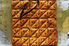 What I love about baklava is that the recipe changes all the time, depending on… A Food, Good Food, Yummy Food, Delicious Deserts, Date Pudding, Baklava Recipe, Best Chef, Something Sweet, Recipe Changes