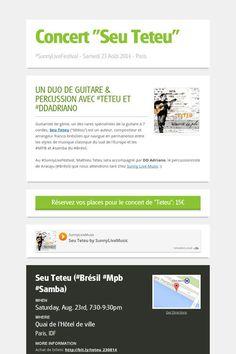 """Concert """"Seu Teteu""""  > Samedi 23 août 2014 à 19h > Billets ici: http://bit.ly/teteu_230814"""