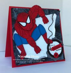 Spiderman card out of punches! Lots of little boys are going to love this one!