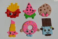 Shopkins edible cupcake topper, Shopkins fondant topper, Shopkins cake topper, Shopkins party by AmoreConfections on Etsy