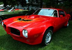 Check out the car you always wanted to have! The 1973 Pontiac Firebird Trans Am! An all American muscle car! Fast, red, and oh so cool! Seen at the 2013 Motor Muster in Dearborn Michigan! Pontiac Cars, Chevrolet Camaro, Pontiac Firebird Trans Am, American Muscle Cars, American Sports, Mustang Cars, Rachel Cohen, Modified Cars, Ford Models