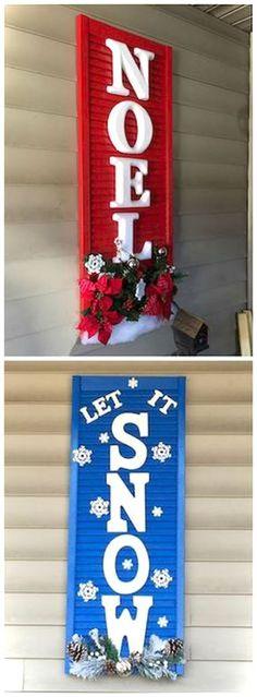 Cool 44 Nice DIY Christmas Signs Ideas on a Budget https://roomaniac.com/44-nice-diy-christmas-signs-ideas-budget/