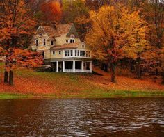 I would love this home. I could just see River enjoying himself in that lake. Oh, and it has seasons!