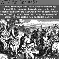 Nearly a thousand years ago, the Duke of Welf accidentally brushed the foot of the Queen when he bowed before King Konrad III.  Enraged at this insult, the King upbraided the Duke in front of the Duke's men.  Offended and embarrassed, the Duke declared he would never again pay any tribute (tax) to the royal crown.  -  WTF fun facts