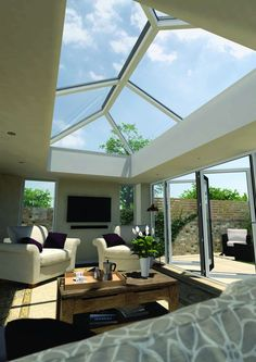 Crazy Tips and Tricks: Modern Roofing Lines roofing garden deck.Modern Roofing Lines. Orangerie Extension, Extension Veranda, House Extension Plans, House Extension Design, Extension Ideas, Glass Roof Extension, Garden Room Extensions, House Extensions, Roof Design