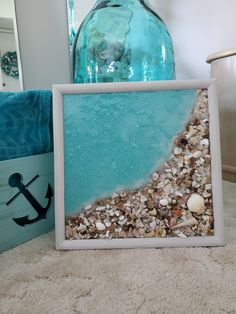 Trendy Cool diy crafts for the home Seashell Art, Seashell Crafts, Beach Crafts, Crafts With Seashells, Ocean Crafts, Sea Glass Crafts, Sea Glass Art, Decor Crafts, Home Crafts