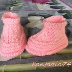Chaussons bébé naissance 1mois rose