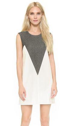 Mason by Michelle Mason Shift Dress with Inset