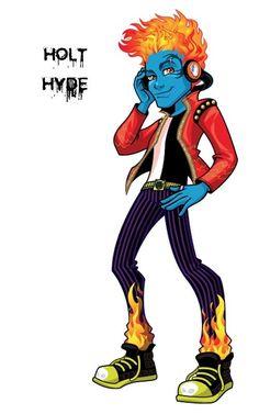 Conoce a los personajes de Monster High. Holt Hyde