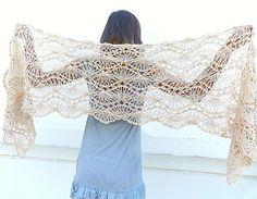Crochet stole. Lace crochet shawl. Capelet Cowl. by Lasunka