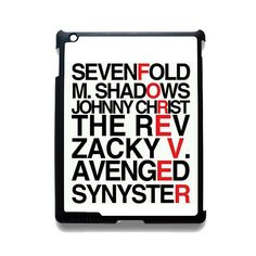 Avenged Sevenfold Quotes Forever TATUM-1191 Apple Phonecase Cover For Ipad 2/3/4, Ipad Mini 2/3/4, Ipad Air, Ipad Air 2