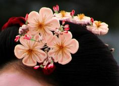 Close up of maiko kanzashi