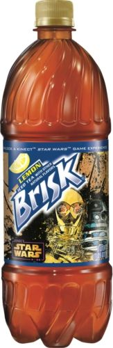 """Brisk® Iced Tea Unveils One-Liter Bottle, Featuring Star Wars™ Characters R2-D2 and C-3PO, With Tag to Unlock Exclusive Content for New """"Kinect™ Star Wars"""" Game"""