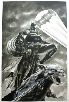 Batman on Gargoyle by Jack Herbert