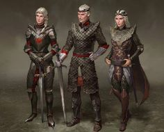 Aegon The Conqueror and his sisters, Visenya and Rhaenys.