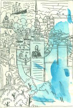 Inside the sketchbook of T. Edward Bak via medium.com