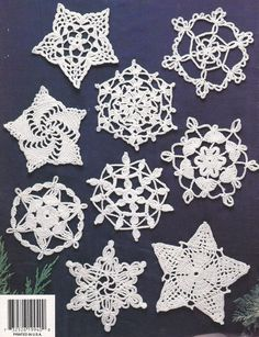 Snowflakes Crochet Patterns - Stars too!