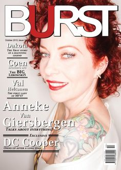 BURST Magazine Issue 10, October 2013 October 2013, 8th Of March, Coen Brothers, Open Up, The Gathering, Blues, Magazine, Rock, Female