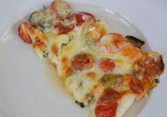 Panga met mozzarella