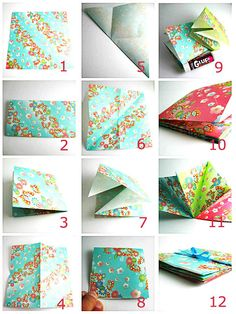 Tutorial Folded Paper Book Origami Fly Away Free Kid Craft Diy