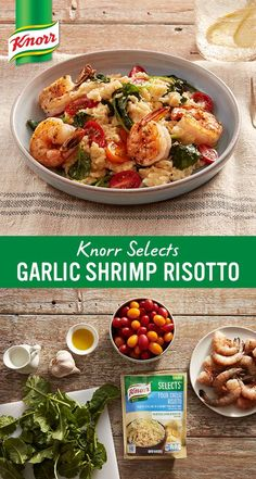 This mouthwatering recipe uses delicious new gluten-free Knorr® Selects Four Cheese Risotto to debunk every myth you've ever heard about mixing cheese with seafood. With no artificial flavors or preservatives, you can feel good about what you're putting on the table.