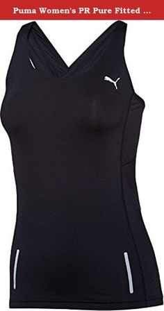 Puma Women's PR Pure Fitted Tank, Black, Large. Cool CELL: highly functional materials draw sweat away from your skin while anatomically place air-flow features offer you superior temperature regulation to keep you cool and dry during exercise. Mesh inserts for improved air circulation at critical heat zones and comfort. Flatlock seams result in less friction and higher comfort. Cleansport NXT finish to ensure odor control on an organic base. Reflective logo and other reflective items for...