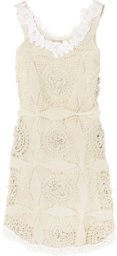 e604c1cf31b1a6 ShopStyle  Alberta Ferretti Cropped lace and silk top