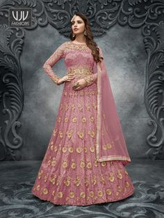 Rs6,500.00 Robe Anarkali, Costumes Anarkali, Net Lehenga, Lehenga Choli Online, Indian Lehenga, Anarkali Suits, Western Lehenga, Lehenga Suit, Lehenga Style