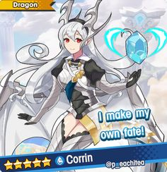 """corrin in dragalia lost coming never"" Fire Emblem Characters, Anime Characters, Fire Emblem Shadow Dragon, Fire Emblem Fates Corrin, Female Corrin, Ninja Outfit, Female Dragon, Lost Art, Anime Fantasy"