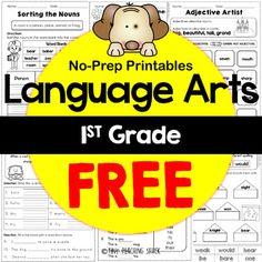 1st Grade Language Arts No-Prep Printables Freebie