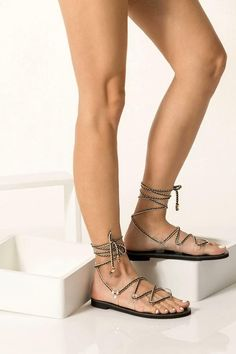 Explore the Vegan Sandals Collection for Women by Greek Chic Handmades and add a boho touch to your summer outfit. Our lace up flats are unique, classy, comfortable, lightweight, handmade of quality vegan leather, PVC and & luxurious fabrics. It does not demand a lot of effort to be alluring and make a dazzling appearance. Greek Chic Handmades gladiator sandals are handcrafted in Athens, Greece and designed to accompany you everywhere. From the city to beach escapades and resort evenings.