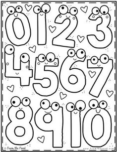 Coloring Club Library — From the Pond Coloring Club Library — From the Pond Numbers Preschool, Preschool Worksheets, Preschool Learning, Preschool Activities, Learning Numbers, Colouring Pages, Printable Coloring Pages, Coloring Sheets, Coloring Books