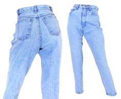 Sz 4P 80s 90s High Waisted Mom Jeans  Vintage by SadieBessVintage