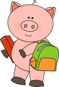 Pig Going to School