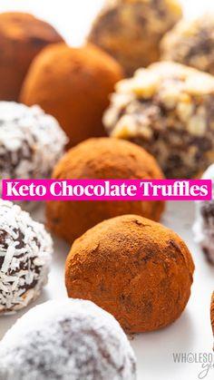 Keto Chocolate Recipe, Low Carb Chocolate, Chocolate Truffles, Keto Friendly Desserts, Low Carb Desserts, Low Carb Recipes, Keto Sweet Snacks, Keto Snacks, Keto Dessert Easy