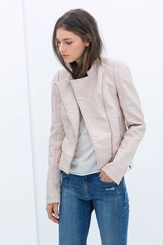 Zara faux leather moto jacket. Just the right amount of chic and girly.