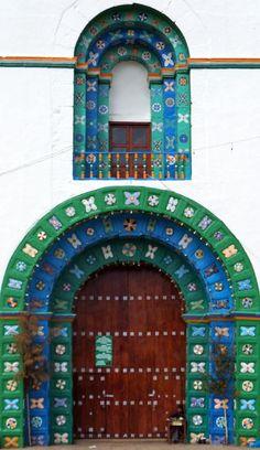 Puertas Y Ventanas, San Juan Chamula, Chiapas, Mexico door and window