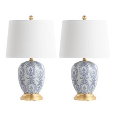White Table Lamp, Table Lamp Sets, Fabric Lampshade, Jewelry Armoire, Shop Lighting, Floral Motif, Floral Design, Lamp Light, Light Bulb