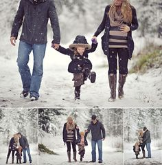 I can't wait to do this if we move to MI!!! outdoor family photos with snow |#snowphotos #familysnowphotos
