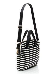 classic nylon stripe laptop commuter bag - kate spade new york Purse Wallet, Clutch Bag, Crossbody Bag, Tote Bag, Kate Spade Laptop Bag, Kate Spade Bag, Laptop Bags, Porta Notebook, Mens Leather Laptop Bag