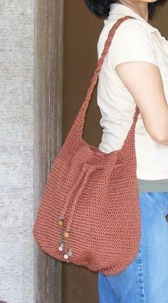 Crochet Bag pattern Stylish Sack Bag pdf pattern by mimicrochet