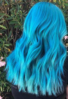 Stunning Color Hairstyles for 2019 Rose Hair Color, Pretty Hair Color, Hair Dye Colors, Ombre Hair Color, Blue Green Hair, Pastel Blue Hair, Hair Again, Hair Reference, Dye My Hair