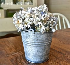 How to age shiny galvanized bucket using toilet bowl cleaner